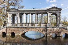 Marble bridge in the Catherine Park. Sankt-Peterburg, Russia Stock Images