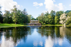 The Marble Bridge in Catherine royal park Saint Petersburg Royalty Free Stock Photo