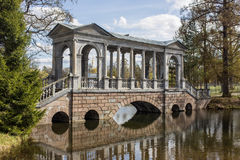 Marble bridge in park Royalty Free Stock Image