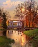 Marble bridge in Pushkin at dawn Royalty Free Stock Images