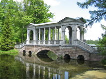 Marble bridge tsarskoe selo Stock Photo