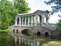 Marble bridge tsarskoe selo Stock Photo