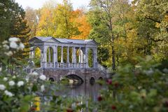 Marble Bridge in Tzarskoye selo, St.Peterburg, Stock Image