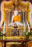 Marble Buddha Statue  at Wang wiwekaram temple, Sangklaburi. Thailand Stock Photos