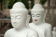 Marble Buddha was carved Placed outside. Stock Image