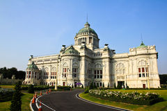Marble building of The Throne Hall in Bangkok Royalty Free Stock Photography