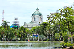 Marble building of The Throne Hall in Bangkok Stock Images