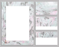 Marble buisness cards. Royalty Free Stock Photo