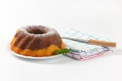 Marble bundt cake Royalty Free Stock Image