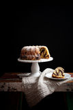 Marble bundt cake Royalty Free Stock Images
