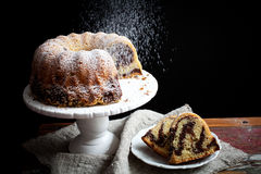 Marble bundt cake Royalty Free Stock Photography