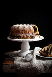 Marble bundt cake Royalty Free Stock Photos