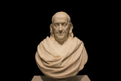 Marble bust of Benjamin Franklin Royalty Free Stock Photos