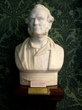 Marble Bust in Bodelwyddan Castle North Wales. BUst of Rajah Brookes in Bodelwyddan Castle North Wales stock photo