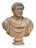 Marble bust of the roman emperor Antoninus Pius. Isolated on white Royalty Free Stock Image