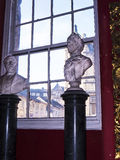 Marble Busts Exhibit in the Regimental Museum in the City Museum in Lancaster England in the Centre of the City Stock Photo