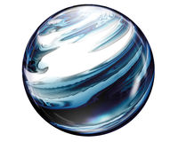 Marble Button Sphere. A combined look of pearl & marble contribute to this object's uniquely beautiful look. Great as a design element or web button Royalty Free Stock Photos