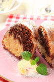Marble cake Royalty Free Stock Photography