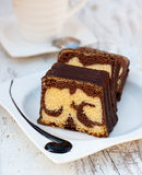 Marble cake Stock Photography