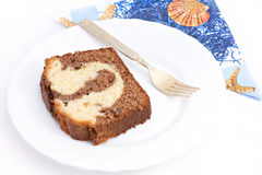 Marble cake bake sweet dessert Stock Photography