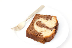Marble cake bake sweet dessert Royalty Free Stock Image