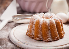 Marble cake with baking utensils royalty free stock photo