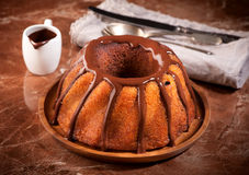 Marble cake with chocolate Stock Images