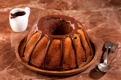 Marble cake with chocolate Royalty Free Stock Images