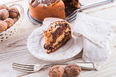 Marble cake. A fresh and tasty Marble cake Stock Image
