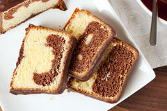 Marble cake pieces Royalty Free Stock Images