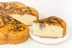 Marble Cake Slice Royalty Free Stock Image