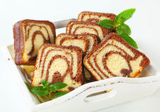 Marble cake Stock Images