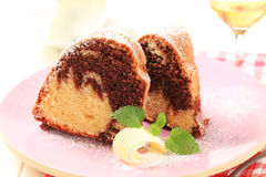 Marble cake Royalty Free Stock Photos