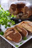 Marble cake slices Stock Image