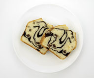 Marble Cakes with lemon, on a white plate Royalty Free Stock Photo