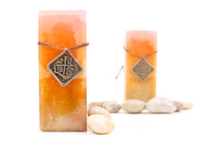 Marble Candle with Medallion Royalty Free Stock Images