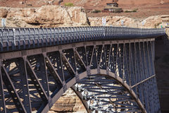 Marble Canyon Bridge Spanning the Colorado River Royalty Free Stock Photo
