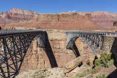 Marble Canyon Bridges of the Colorado River Royalty Free Stock Images