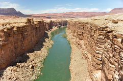 Marble Canyon, Colorado River in Arizona Stock Images