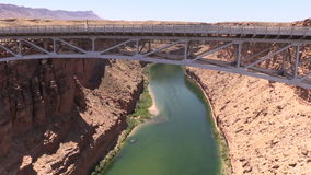 Marble Canyon and Colorado River Pan stock footage