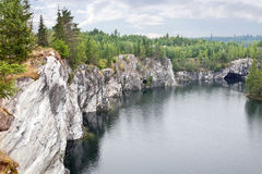 Marble canyon is in Karelia Royalty Free Stock Photos