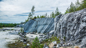 Marble canyon. In the Karelia stock image