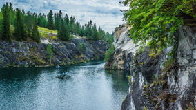 Marble canyon. In the Karelia Stock Photo