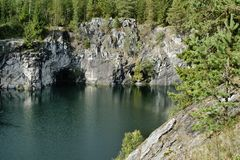Marble Canyon, Karelia, Russia stock image