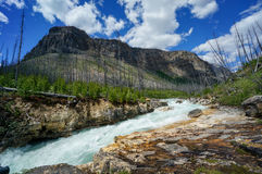 Marble Canyon in Kootenay National Park Royalty Free Stock Images