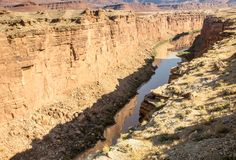 Mysterious Marble Canyon Stock Image