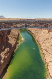 Marble Canyon and Navajo Bridge Royalty Free Stock Images