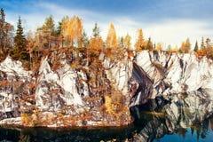 Marble canyon Ruskeala Stock Photography