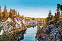 Marble canyon Ruskeala Royalty Free Stock Photos