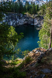 Marble canyon. Ruskeala in Russia. the Republic of Karelia Royalty Free Stock Image